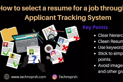 How to select a resume for a job | Applicant Tracking System