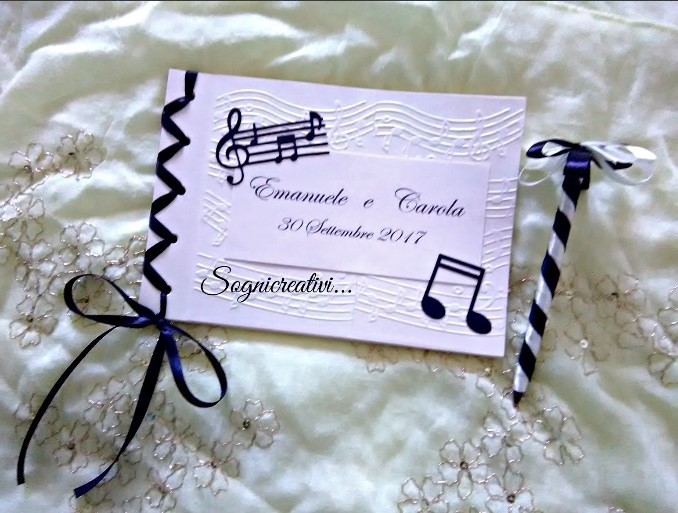 Amato Partecipazioni Sognicreativi Wedding and Events: Guestbook  DU01