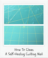 How To Clean A Self-Healing Cutting Mat by www.madebyChrissieD.com