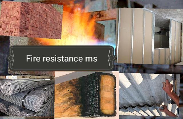 المواد المقاومة للحريق المستخدمة في البناء