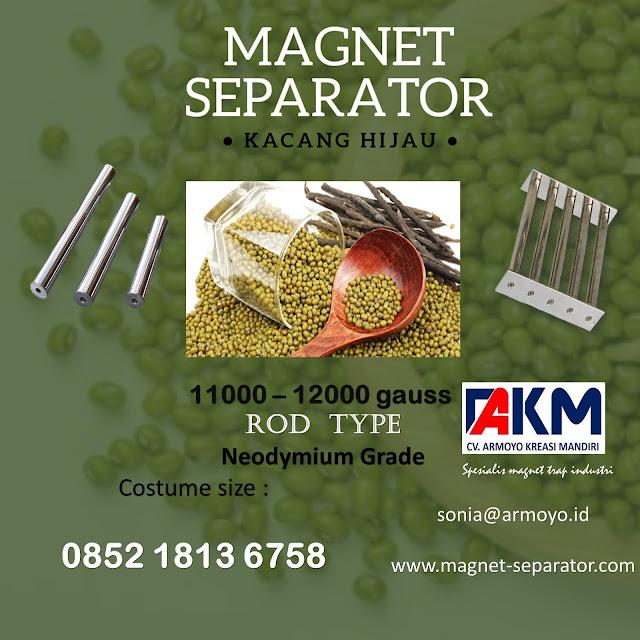 magnet separator kacang hjau