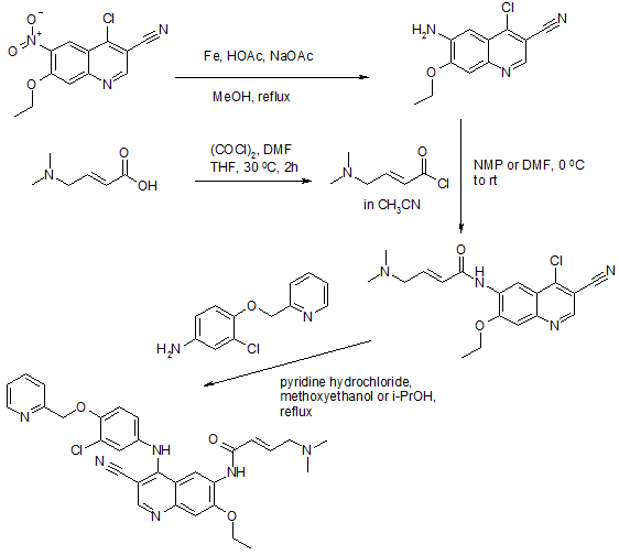 Neratinib Synthesis from J Med Chem 2005 1107