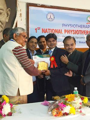डॉ सत्यम भास्कर पीसीआई के सम्मान समारोह में सम्मानित हुए।