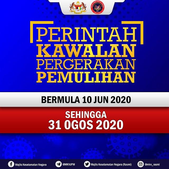 PKPP Bermula 10 Jun hingga 31 Ogos 2020