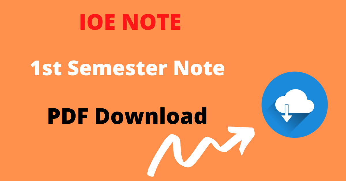 First semester IOE Note