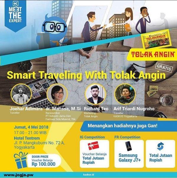 Talk Show Smart Traveling with Tolak Angin dan Kaskus Yogyakarta