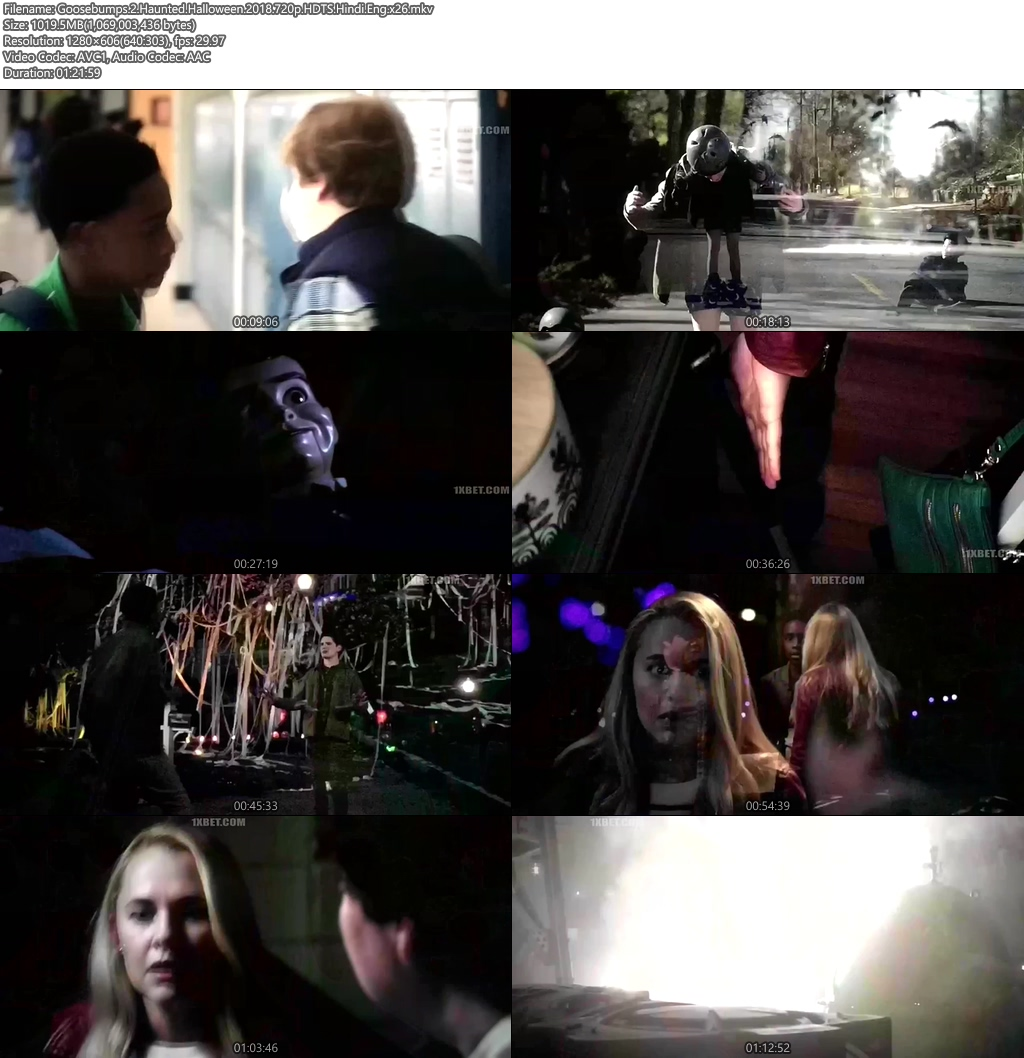Goosebumps 2 Haunted Halloween 2018 720p HDTS Hindi Eng x26 | 480p 300MB | 100MB HEVC Screenshot