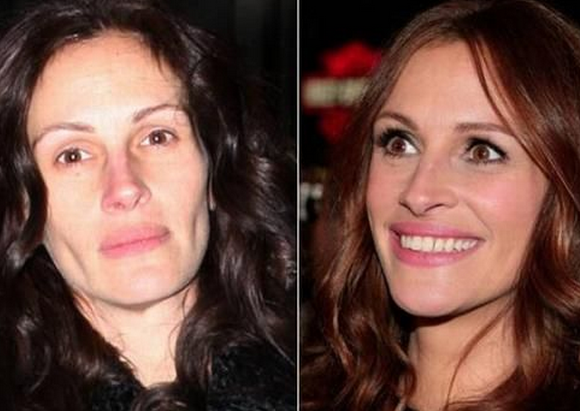 Julia Roberts Tanpa Make Up