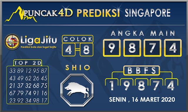 PREDIKSI TOGEL SINGAPORE PUNCAK4D 16 MARET 2020