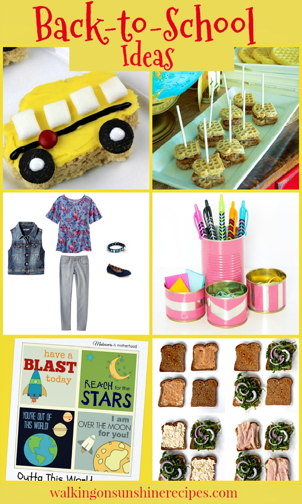 Back-to-School Ideas | Foodie Friends Friday linky party | Walking on Sunshine.