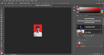 edit pas foto photoshop