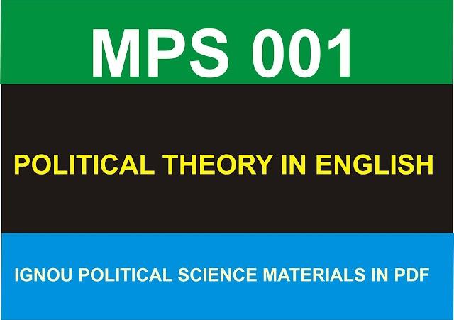 MPS 001 Materials in PDF