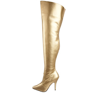 gold thigh high boots