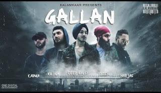 Gallan Lyrics Deep Kalsi, Fateh, Kr$na, Harjas, Karma