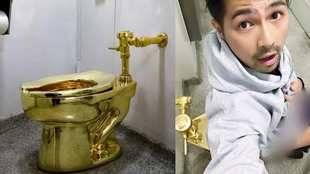 orang Rela Antre untuk Coba Toilet Emas  Berita Terhangat Wow...ada Toilet Umum dari Emas lhoo...