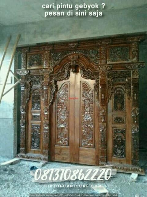 Gambar pintu gebyok yang sudah jadi