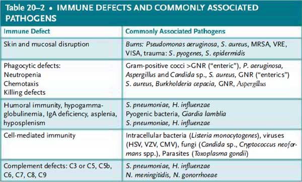 Sepsis in the Immune Compromised Patient