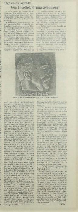 Nagy Imre ügyvédje: Nem követtek el bűncselekményt, 1989. június 16.