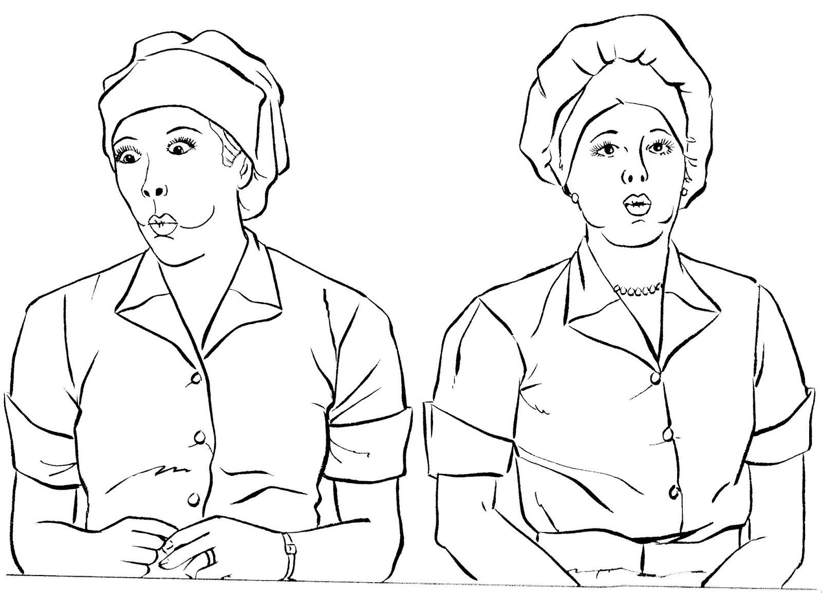 lucille ball coloring pages | Mostly Paper Dolls Too!: Color Me LUCY - Celebrating 50 ...