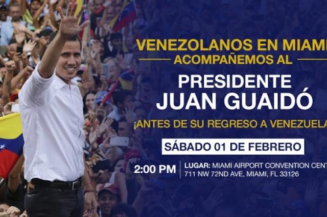 MUNDO: Miami Airport Convention Center será el encuentro del Presidente Interino Juan Guaidó con venezolanos.
