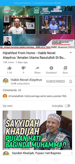 tausiyah-secara-streaming-channel-Youtube-HABIB-NOVEL-ALAYDRUS