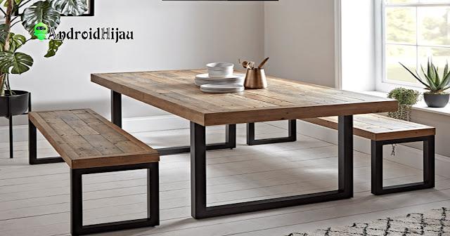 konsep meja makan industrial sangat cocok bagi anda yang menginginkan desain ruang makan minimalis ala cafe