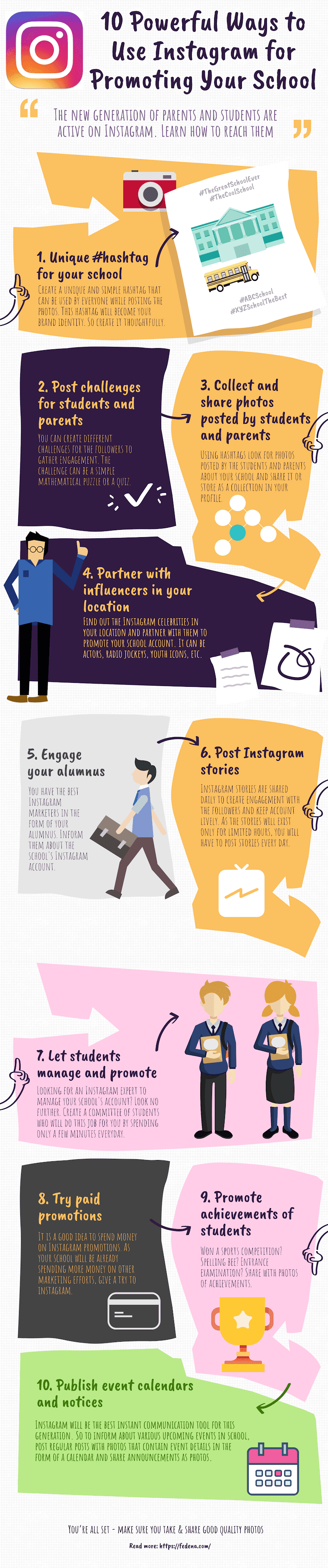10 Powerful Ways to Use Instagram for Promoting Your School #infographic