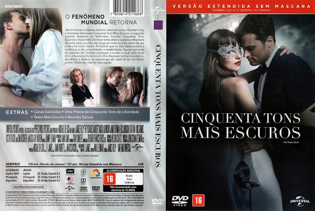 Capa DVD Cinquenta Tons Mais Escuros (Oficial)