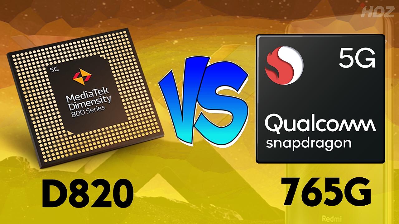 من الأفضل معالج ميدياتيك Dimensity 820 أم Snapdragon 765G اعرف الإجابة!