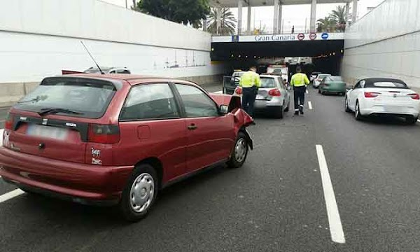 Dos heridos accidente Avenida Marítima, Santa Catalina