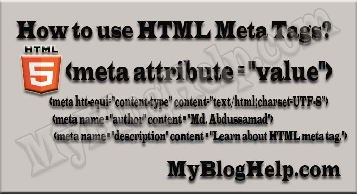 How to use HTML Meta Tags? ~ MyBlogHelp– A Blog for SEO