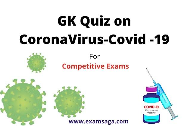 GK Quiz on Covid-19 Question Answer [Pdf]