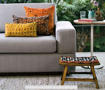 decoração de sofá