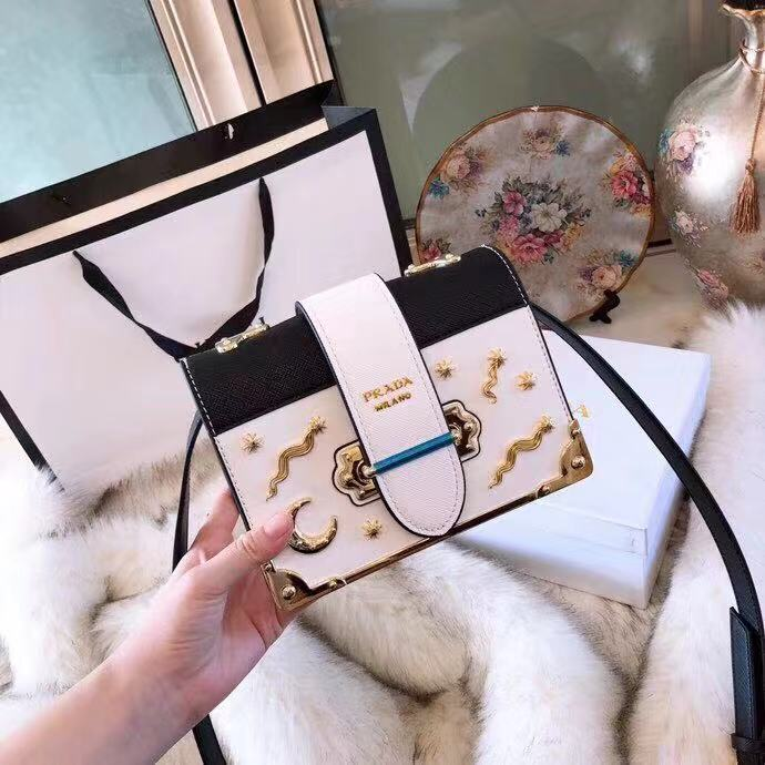 e8658fe039d5 PRADA Limited Edition Celestial Cahier Studded Sling Bag 🎁 Gift Box. Order  Code: BOEI232881118