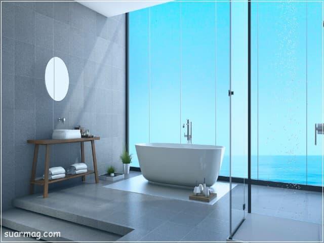 أجمل وأحدث صور حمامات مودرن 2021 وديكورات حمامات فخمة جدا | مجلة صور