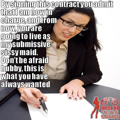 Sissy Contract TG Caption - TG Captions and more - Crossdressing and Sissy Tales and Captioned images