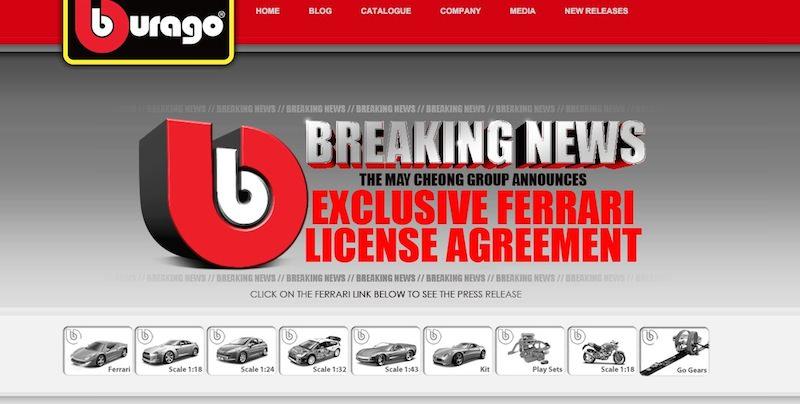 フェラーリとマテルのミニカー独占ライセンス契約が終了へ。新たな契約先はブラーゴ?