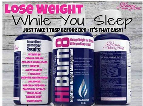 Lose weight while you sleep with HiBurn8 weight loss drink!
