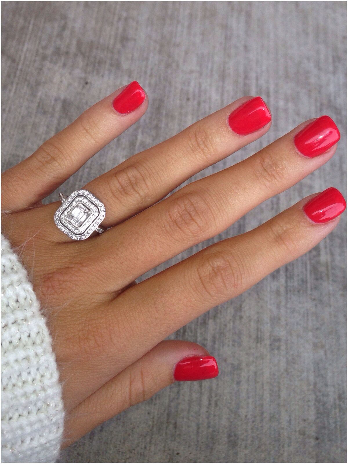 Red Short Nails Inspiration