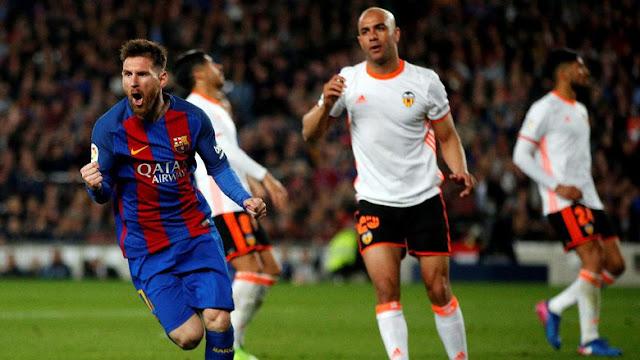 Messi Dua Gol, Barcelona Kalahkan Valencia
