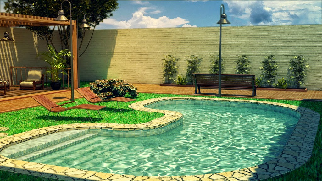 Small pool ideas for small yard backyard design ideas for Small backyard designs with pool
