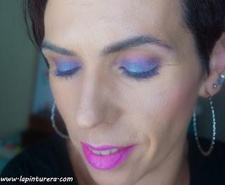 look azul y malva rostro
