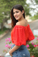 Rhea Chakraborty in Red Crop Top and Denim Shorts Spicy Pics ~  Exclusive 180.JPG