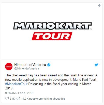 'Mario Kart' is speeding to your smartphone