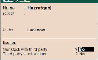 Stock को Transfer करने की Entry, Tally में कैसे करे।