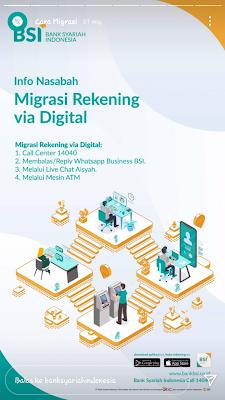 Migrasi Rekening Via Digital BSI