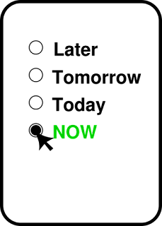 imagem-com-palavras-mais-tarde-amanha-hoje-e-agora-com-destaque-na-palavra-agora