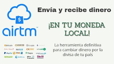 Transacciones dinero seguro AirTm