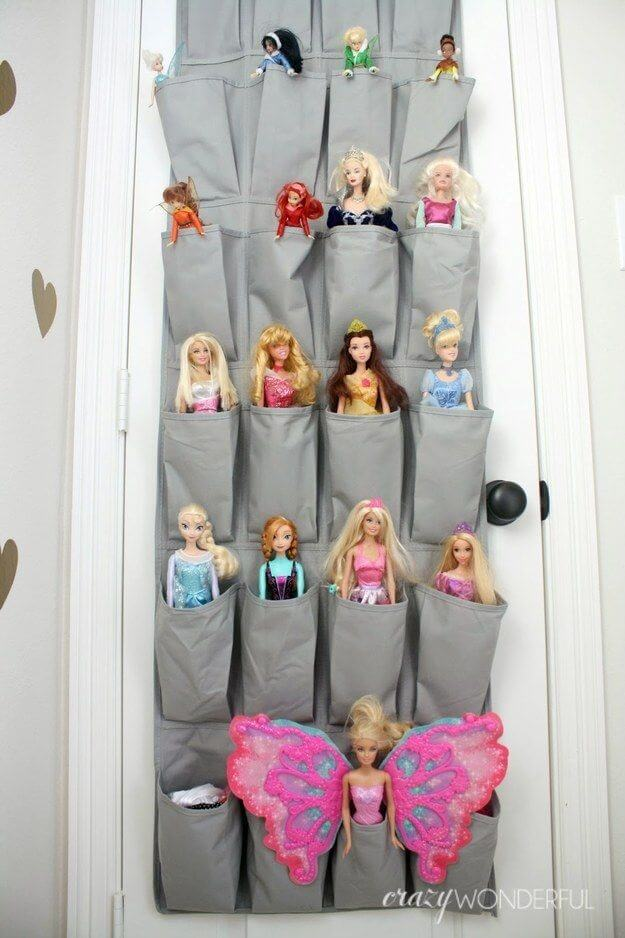 Brilliant Kids Playroom Organization Ideas Crafts On Fire - Barbie doll storage ideas