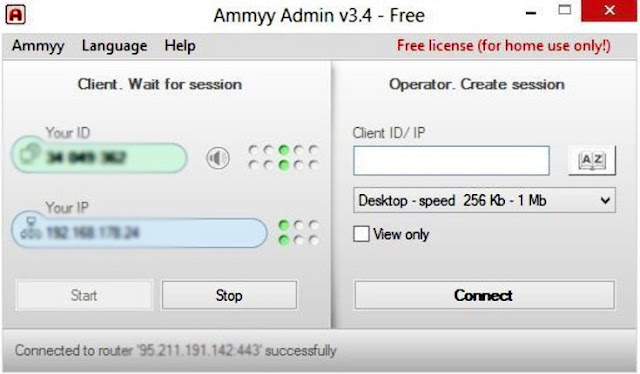Latest Version Desktop Sharing and remote Ammyy Admin software Free Download